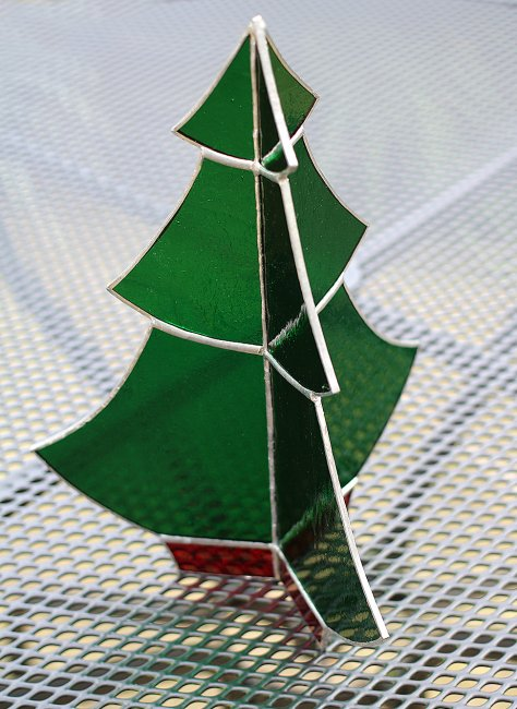 Vitreus Art Stained Glass 3d Christmas Tree