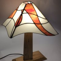 Mikes Asymetirc Lamp - Stained Glass Lamp at Vitreus Art Gallery