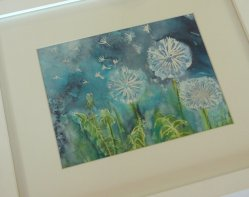 Dandelion Time paiting by Clare Tebboth