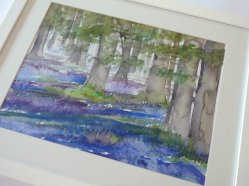 Clare Tebboth - Bluebells painting at Vitreus Art
