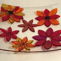 Fleur - fused glass bowl by Jenny Timms