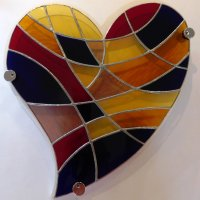 Forever - stained glass wall art