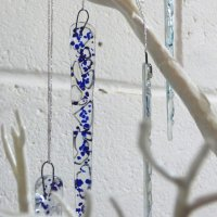 Fused Glass Icicle workshop with Vitreus Art - make your own Christmas decorations
