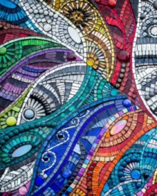 Mosaic exhibition with artist Julie Edmunds at Vitreus Art May 2019