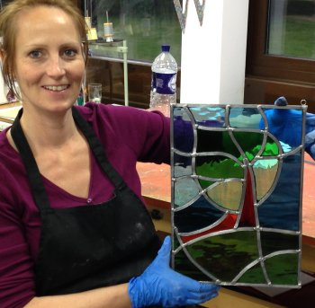 Make your own stylish stained glass panel on this class