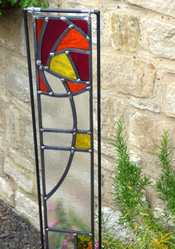 Mackintosh rose style garden panel - one of our class designs