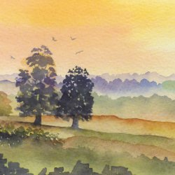 Marlene Snee - new artist at Vitreus Ar showin watercolours and framed originals