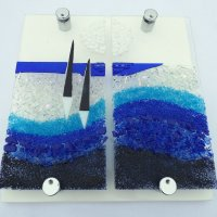 Moonlight - fused glass art by Jenny Timms