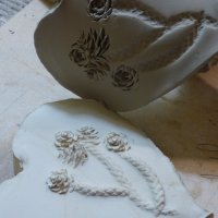 Make 3 plaster cast relief tiles on the beginners plaster casting class
