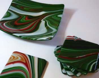 ROger Loxton - fused glass at Vitreus Art