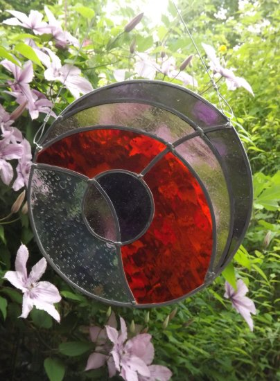 Round Stained Glass Panel By Vitreus Art