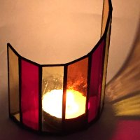 Stained Glass copper fooil candleholder workshops at Vitreus Art