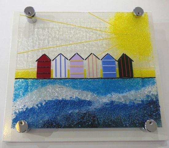 Summers Here - fusaed glass wall art by Jenny Timms of Vitreus Art