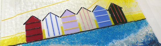 Summers Here - fused glass detail