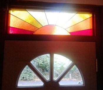 Stained glass fanlight made on a Vitreus Art course
