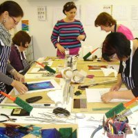 Stained glass courses and classes with Vitreus Art