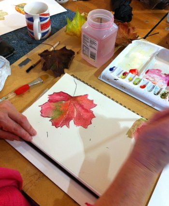 Our one day painting and drawing beginners class covers a range of techniques